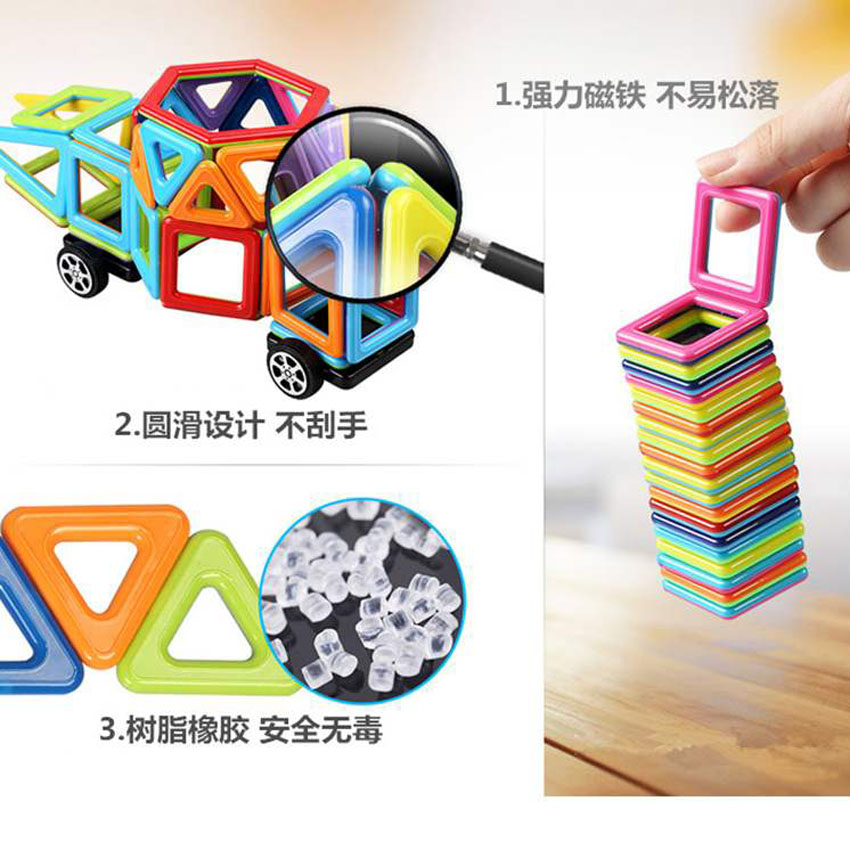 Pure Magnetic Block The Multivariant Tyra Magnetic Blocks Scattered Pills Magnet Assembly Building Children's Educational Toys