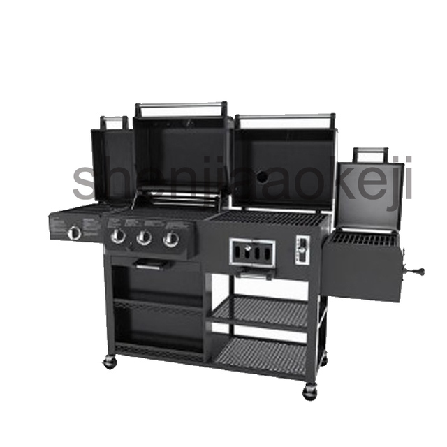 Thickening Infrared Oven Charcoal Bbq Grill Gas Smoked Large Family Villas Garden Villa 1pc
