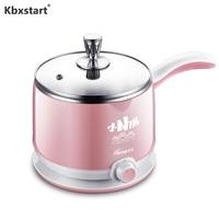 Kbxstart 220V Multifunction Electric Cooker Pot Machine Mini Rice Cooker Electric Skillet Noodles 1.5L Hot Pot Multi Cooker