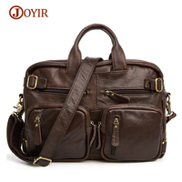 JOYIR Men S Bag Vintage Genuine Leather Functional Bag Crossbody Cow Leather Satchels Totes Laptop Bag