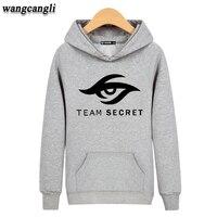Dota 2 TAKıM GIZLI Pamuk harajuku sweatshirt Yüksek Kalitede siyah XXL Kapüşonlu mens hoodies ve tişörtü 3xl Gri