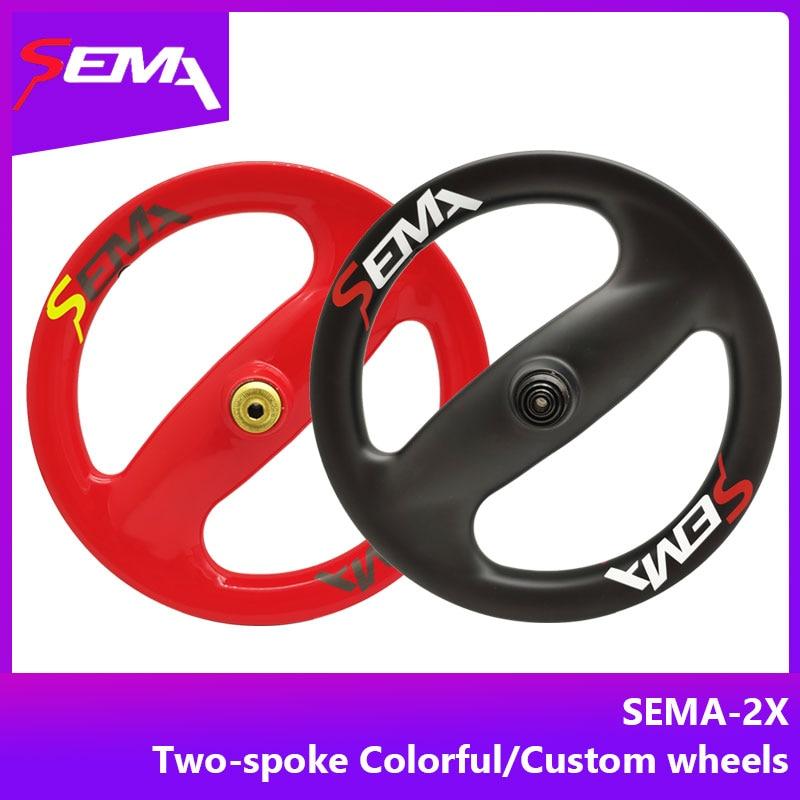 Carbon wheel SEMA12 inch 2spoke carbon wheelset for Kid s Balance Bike two spoke wheels with
