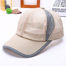 XCZJ Breathable Baseball Cap Cotton Embroidery Women Summer Mesh Hats Sun Beach Hat Casual Adjustable Unisex Snapback H060