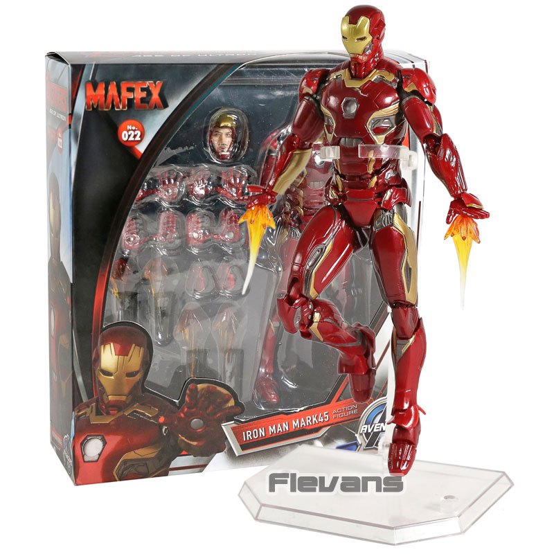 MAFEX NO.022 Iron Man Mark MK 45 PVC Action Figure Collectible Model ToyMAFEX NO.022 Iron Man Mark MK 45 PVC Action Figure Collectible Model Toy