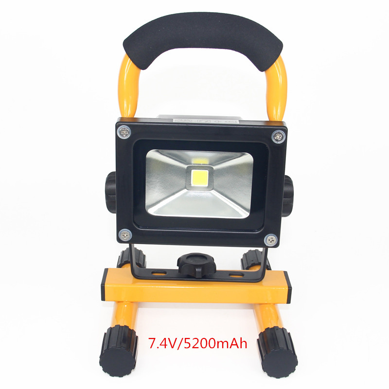 ФОТО LED Rechargeable Flood light portable Emergency led flood lighting Waterproof 10W LED Outdoor Street Wall Lamps F024-2