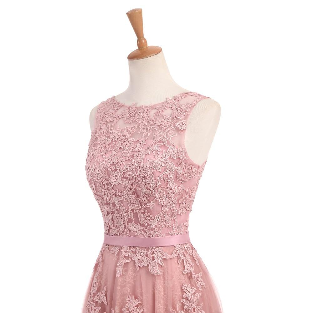 Dusty Rose Elegant Long Evening Dresses 2017 A-Line Lace Appliqued - Särskilda tillfällen klänningar - Foto 5