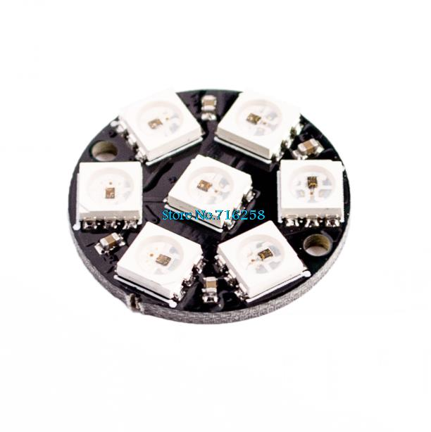 7-Bit 7 Bit LED WS2812 5050 RGB LED Ring Lamp Light with Integrated Drivers for arduino