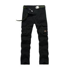 Men Cargo Pants Work Pants Brand Male Trousers 100 Cotton black Multi Pocket Male Outdoors Pant