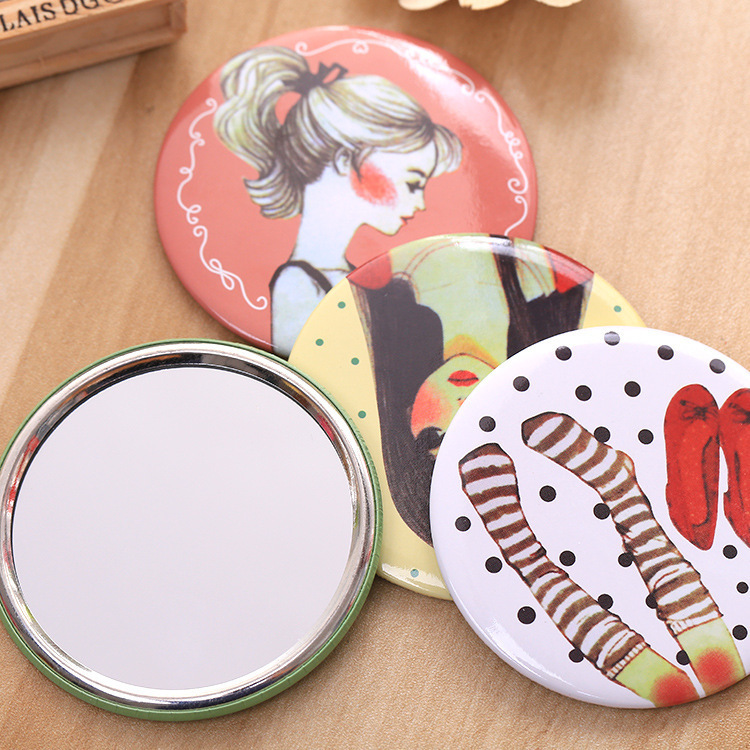 LPIAO05 Cartoon small mirror portable test portable makeup mirror