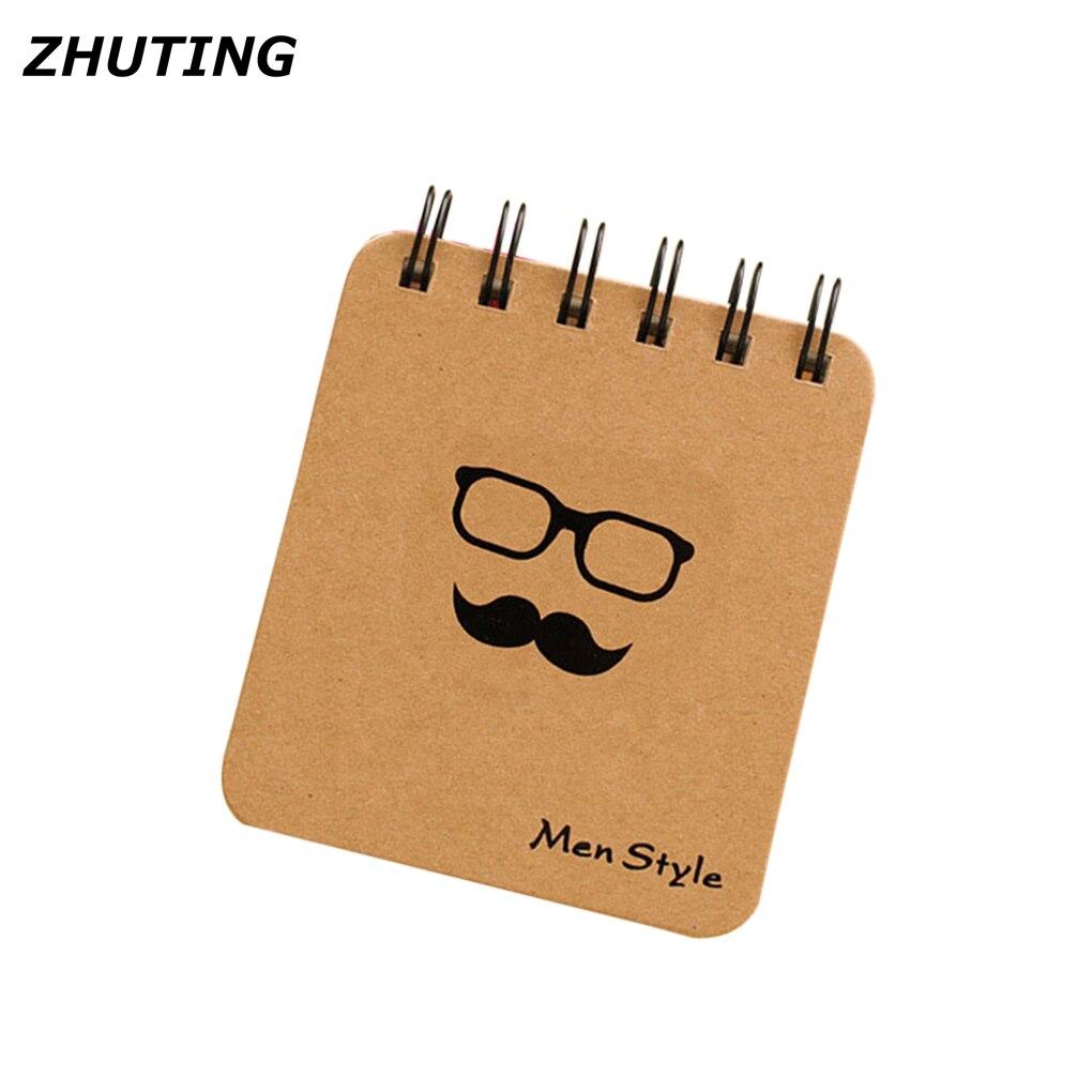 100 Pagine Barba/occhiali/tubo Modello Portatile Mini Tasca Notepad Taccuino Di Carta Imparare Ufficio Memorandum Notebook A Tutti I Costi