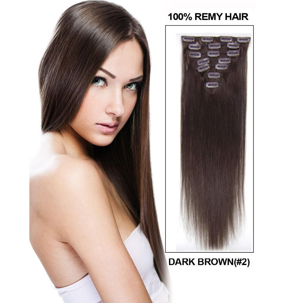 15 18 20 22 Length 7pieces Clip In Hair Extensions 34 Full Head