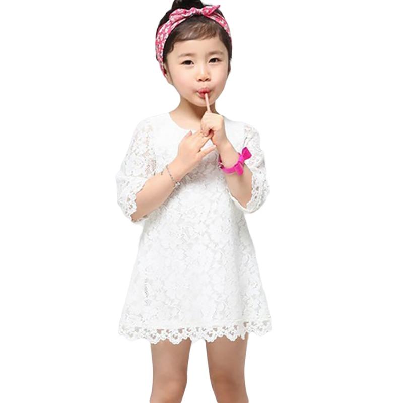 Ana Daugter Dress 2019 Yeni Moda Yaz Payız Dantel paltarları - Uşaq geyimləri - Fotoqrafiya 1