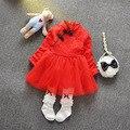 Infantil Niñas Estilo Chino Cheongsam Largo Manga Del Remiendo Del Cordón de Malla Tutú Niños vestido Vestido de Fiesta
