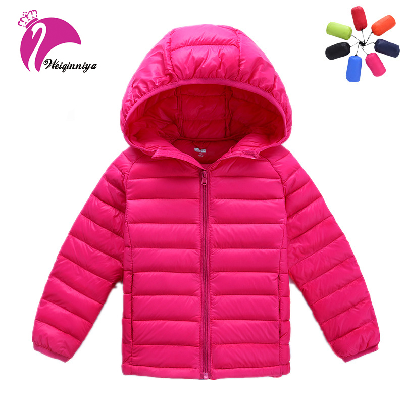 Children Girls Winter Down Coat New Brand 2017 Fashion Solid Hooded Parka Kids Clothes Casual Unisex Cotton Warm Jacket Outwears brand fashion new 2016 winter children down