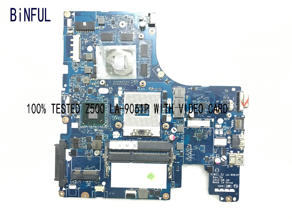 BiNFUL 100 TESTED VIWZ1 Z2 LA 9061P REV 2A LAPTOP MOTHERBOARD FOR LENOVO Z500 NOTEBOOK WITH