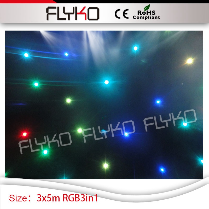 Event & Party Item star curtain light led screen 10ft by 17ft