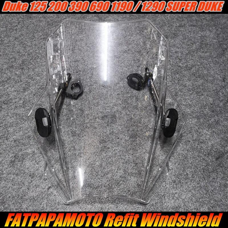 Pour KTM Duke 125 200 390 690 1190 1290 SUPER DUKE accessoires moto 22 26 28 MM guidon universel pare-brise