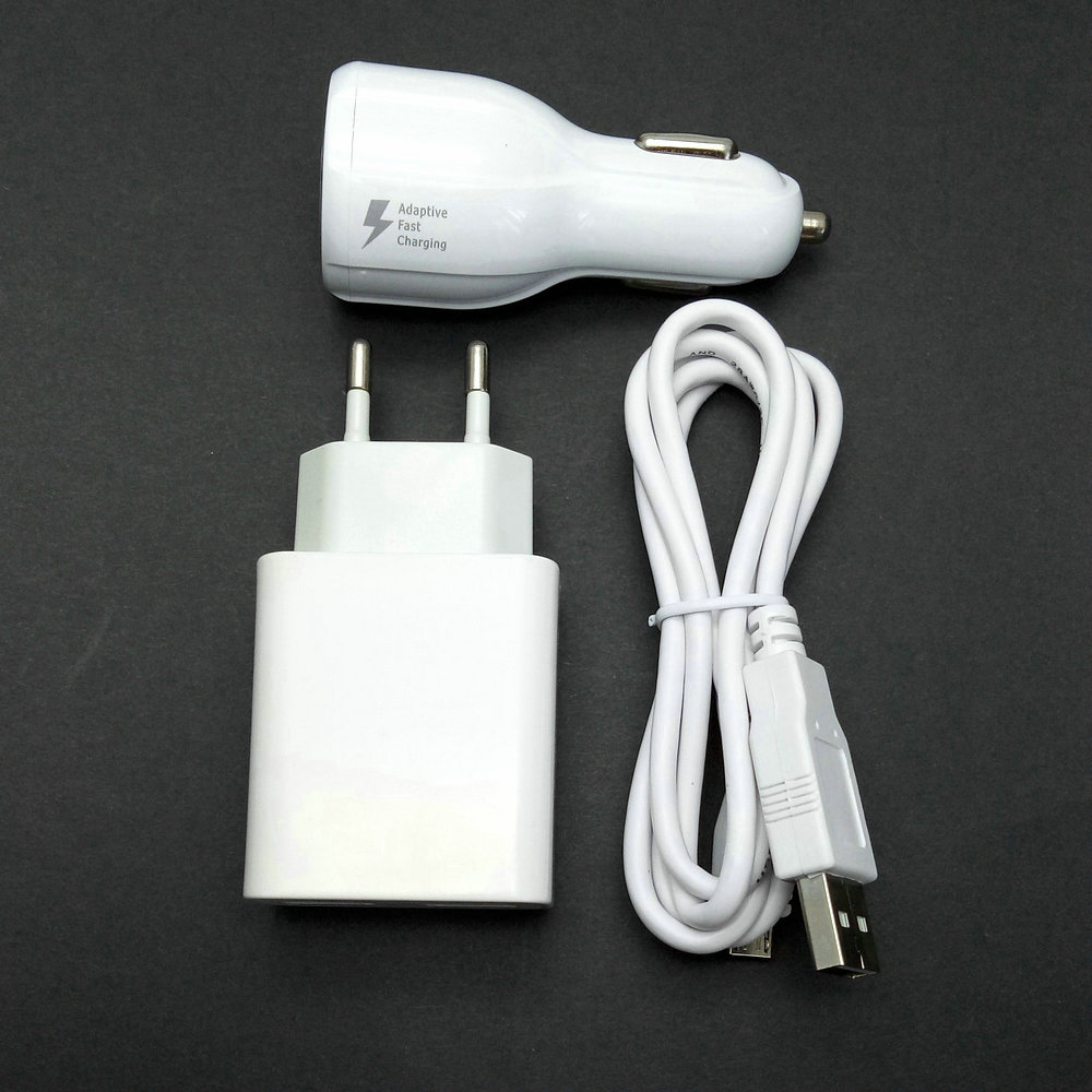 2.4A Travel Wall Adapter 2 USB output + Micro USB Cable +car charger For Alcatel One Tou ...