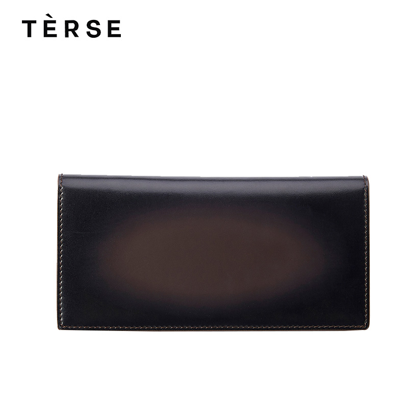 TERSE 2018 New Wallets 100% Genuine Leather Purse For Men Women With Card Holder Luxury Vintage Long Wallet Customize Logo 9589
