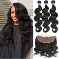 lace frontal closure with bundles peruvian virgin hair with closure body wave human hair 3bundles with closure 13x4 ear to ear