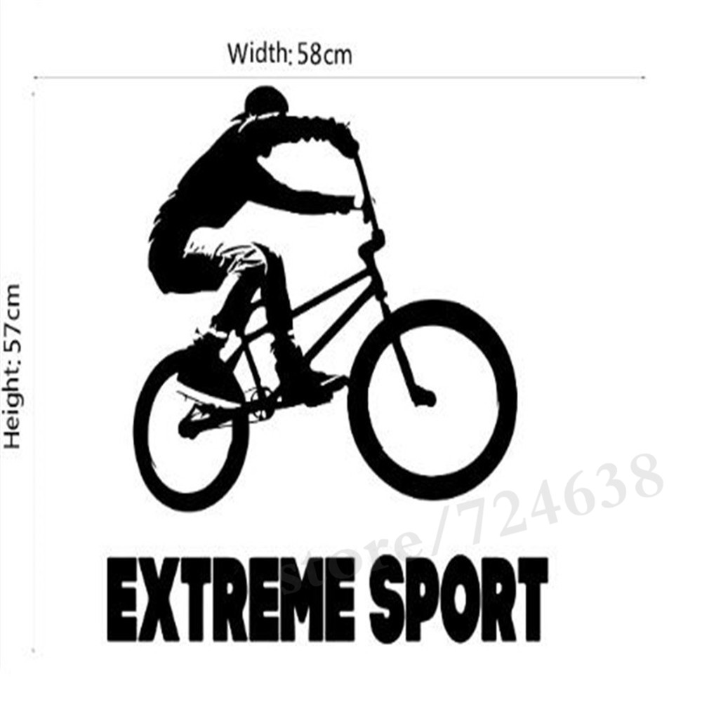 Sports bicycle cycling bike wall sticker home decor custom art removable wall stickers for bedroom vinyl decal decoration in wall stickers from home