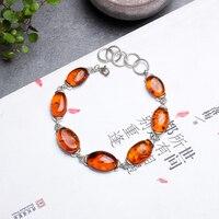 JIUDUO янтарный браслет женский природный Аутентичные капли воды 925 серебро браслет дизайн идентификация Прямая продажа с фабрики