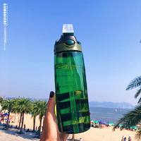 Portable Sport Water Bottle With Straw Kids Water Bottle Straw Water Bottles Tritan Bpa Free Plastic Travel Outdoor Drink Bottle