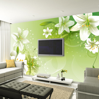 Free Shipping Brief Rustic Tv Background Wallpaper Mural 3d Stereo Seamless Wallpaper For Walls Flowers