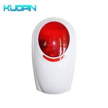 Outdoor Wireless Strobe Siren 433HMz Frequency For Home Security GSM Alarm Systems Threaten Thieves 120dB Sound Flash Siren все цены