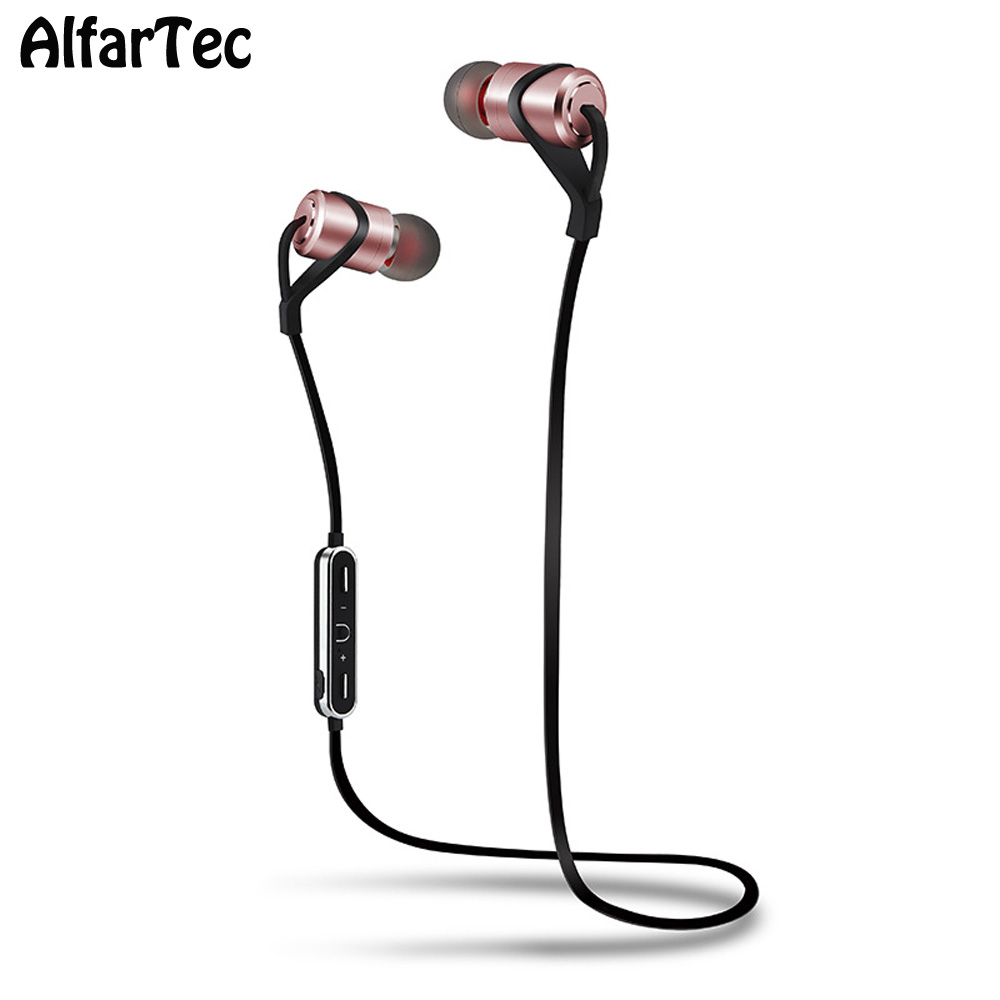 D9S Wireless Super Bass Ie-ear Ear Hook With Mic Bluetooth V4.1 Magnet Earphone HiFi Sport Earbuds For Iphones Xiaomi Samsung bluetooth earphone headphones with magnet attraction slim neckband wireless headphone sport earbuds ear hook with mic