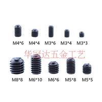 240pcsblack alloy steel Head Hex Socket Fastening Screw free wrench M3 M4 M5 M6 M8 Grub Nut Grub Screw Assortment Plastic Box49