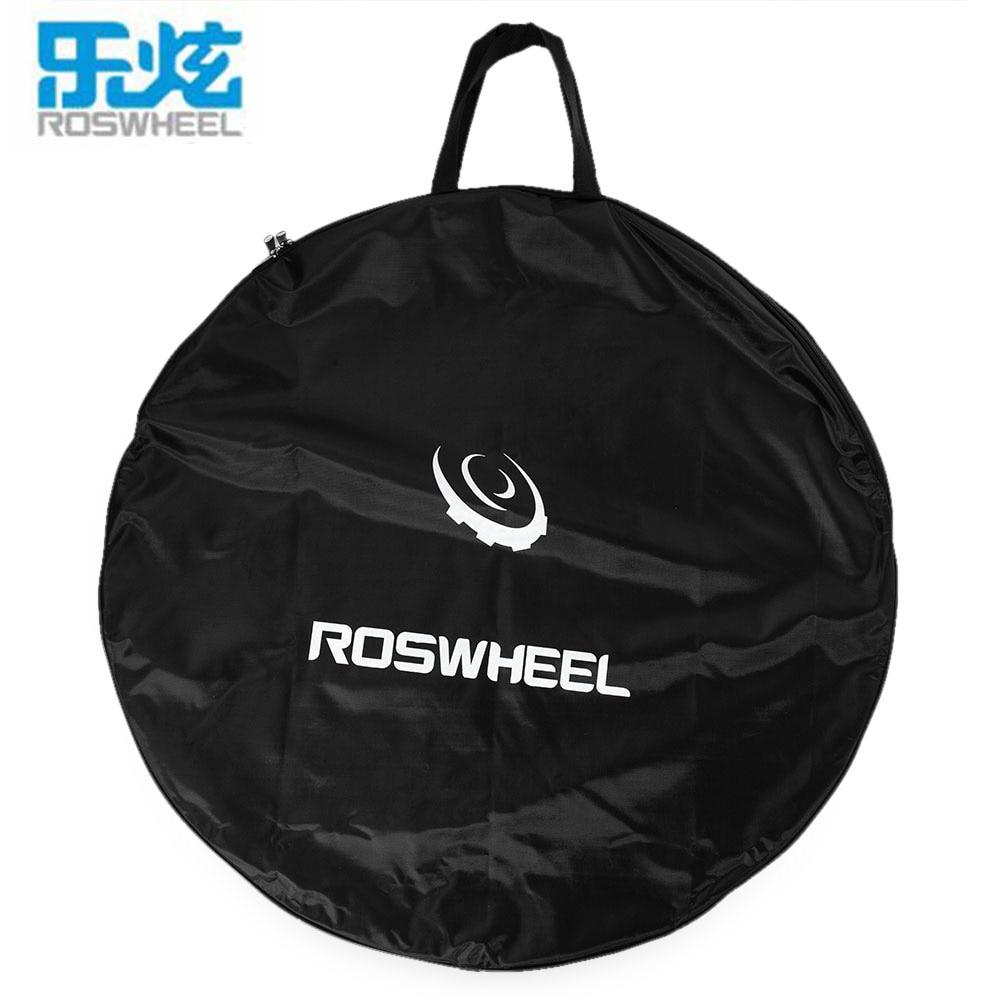 цена на ROSWHEEL Portable Cycling Road MTB Mountain Bike Single Wheel Bag Bike Carrier Bag Road Bicycle Wheel Bag Bicycle Accessories