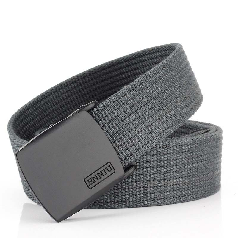 High Quality Automatic Buckle Canvas Belt Military Army Tactical Belt Jeans Adult Fashion Waist Canvas Belts