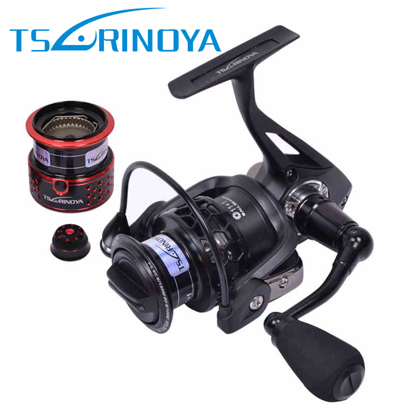 Tsurinoya TSP2000 Spinning Fishing Reel with Spare Spool 12BB 5.2:1 Jig Ocean Boat Rock Lure Wheel Coil Carretilhas De Pescaria tsurinoya tsp2000 spinning fishing reel with spare spool 11 1bb 5 2 1 full metal jig boat lure reels carretes pesca molinete