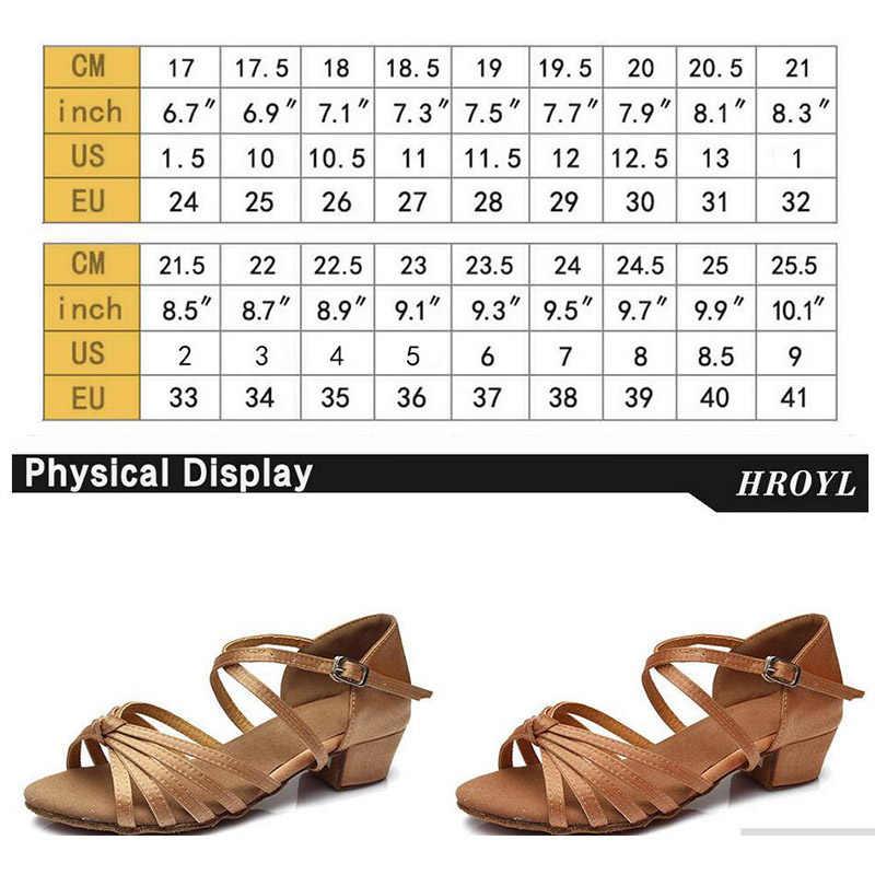 Heiße Neue Produkte Großhandel Dance Schuhe EU24-41 Ballsaal Mädchen Kind/kinder Ballsaal Tango Salsa Latin Dance Schuhe Niedrigen Ferse schuhe
