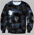 Outono homens / mulheres camisolas gráficos 3D novidade dos desenhos animados Minions / lobo / elefante engraçado crewneck suor
