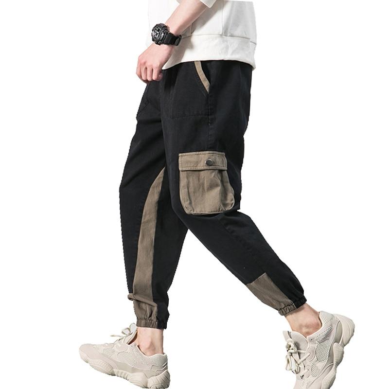 2018 Frühling Herbst Neue Mens Joggers Hosen Casual Slim Fit Multi-tasche Hüfte Hop Jogginghose Männer Durchblutung GläTten Und Schmerzen Stoppen