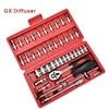 GX Diffuser 46pcs 1 4 Inch Socket Set Car Repair Tool Ratchet Set Torque Wrench Combination