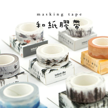 цены Cute Ancient Fountain Ink Painting Decorative Adhesive Washi Tape Diy Scrapbooking Masking Tape School Office Supply