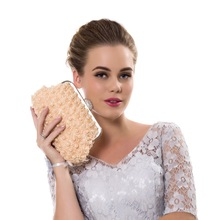 "Women""s Clutch Bag Brand YINGMI Bridal Handbag"