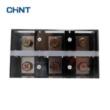 цена на CHINT Dual Row Screw Terminal Block Strip 600V 300A 400A 600A Terminal Connection Terminal Row