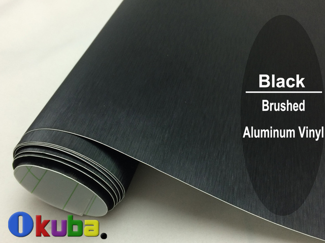FedEx FREE SHIPPING Black Metallic Brushed Aluminum Vinyl car Wrap Film Size:1.52*30M/roll