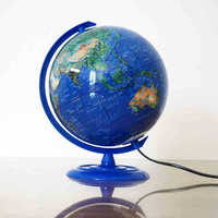 Terrestrial Globe Dia 20cm Chinese And English Satellite Image Tellurion Furnishing Articles Standard Color Printing Teaching