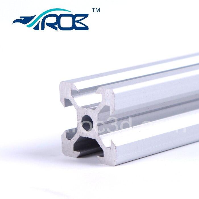 Extrusion de profil en aluminium de rail de fente de V 2020 6 pièces * 60 cm a coupé le travail de support de pièce de construction de machine de CNC avec des roues de Delrin Openbuild