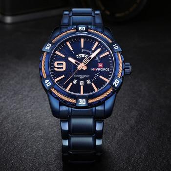 Naviforce Fashion Brand Waterproof Calendar Stainless Steel Men Quartz Watches 4
