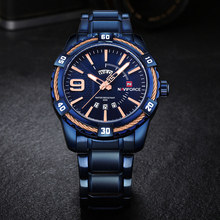 Fashion Casual Brand Waterproof Quartz Watch Men Military Stainless Steel Sports Watches