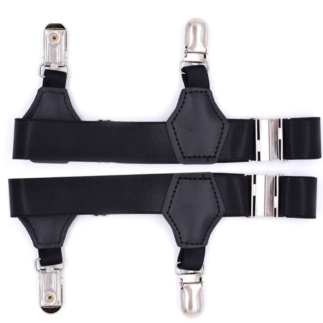 2Pcs/Set Socks Garters Belt Suspenders Adjustable Non-slip Clips For Men  Women