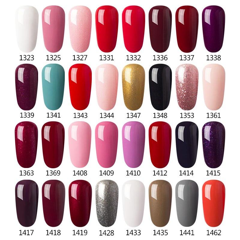 Modelones Newest Pink Color Nail Polish UV Led Long Lasting Nail Gel ...