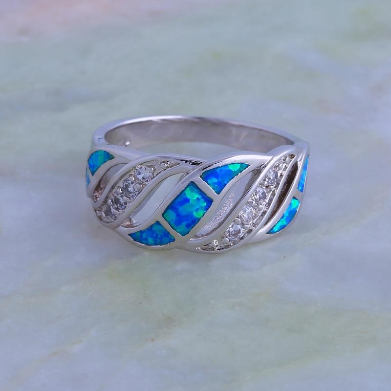 Toy üzüyü 925 Sterling Gümüş üzüklər Qadınlar üçün Mavi - Moda zərgərlik - Fotoqrafiya 4
