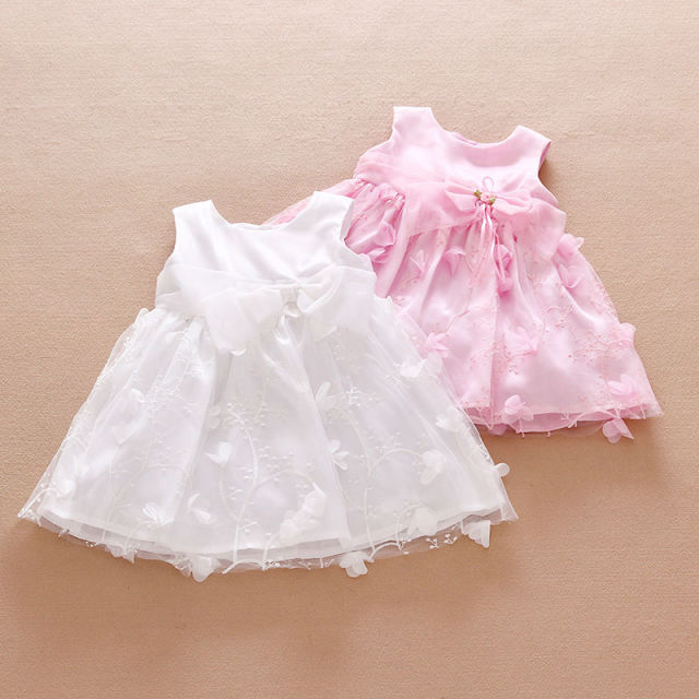 74f4fd87e02d 2016 Summer Dress 3D Flower Baby Girl Baptism Dress 1 Year Birthday ...